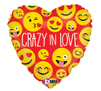 "Crazy in Love Foil Balloons (18"") Balloons Balloon Town - Party Boulevard Singapore Balloons Helium"