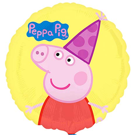 "Peppa Pig Foil Balloons (18"") Balloons Balloon Town - Party Boulevard Singapore Balloons Helium"