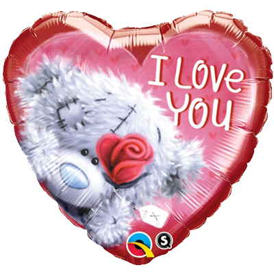 "Teddy Bear I Love You Balloons (18"") Balloons Balloon Town - Party Boulevard Singapore Balloons Helium"