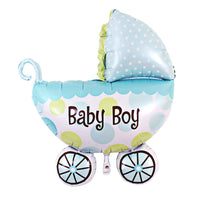 "Baby Boy Buggy Giant Foil Balloons (31"")"
