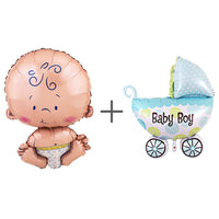 Baby Shower Boy or Girl Helium Fill-able Balloons Set