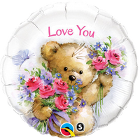 "Teddy Bear Love Balloons (18"")"