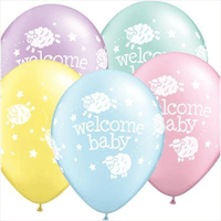 Welcome Baby Latex Balloons (Pastel Assorted Colours) Balloons Balloon Town - Party Boulevard Singapore Balloons Helium