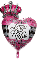 "Love Rules Giant Shape Balloons (30"")"