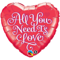 "All You Need Is Love Heart Balloons (18"")"