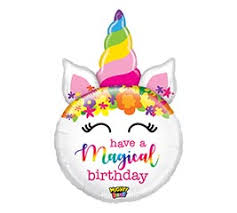 "Unicorn Mighty Shape Giant Birthday Balloons (33"") Balloons Balloon Town - Party Boulevard Singapore Balloons Helium"