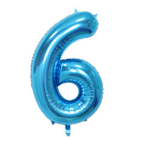 Blue Helium Fill-able Numbers Giant Balloons Balloons Balloon Town - Party Boulevard Singapore Balloons Helium