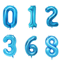 Blue Helium Fill-able Numbers Giant Balloons