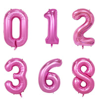 Pink Helium Fill-able Numbers Giant Balloons