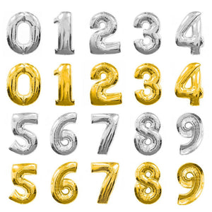 Helium Fill-able Numbers Giant Balloons Balloons Balloon Town - Party Boulevard Singapore Balloons Helium
