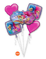 Shimmer & Shine Bouquet Balloons (5 pieces) Balloons Balloon Town - Party Boulevard Singapore Balloons Helium
