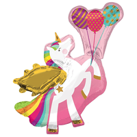 "Unicorn Shape Winged Giant Foil Balloons (34"")"