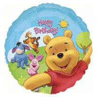 "Winnie The Pool Happy Birthday Foil Balloons (18"")"
