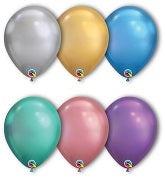Qualatex Chrome Colours Latex Balloons  - Suitable for Helium or Air-filled