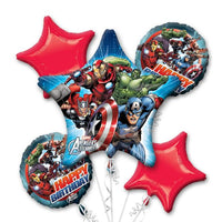 Marvel Avengers Birthday Bouquet Foil Balloons