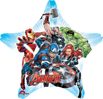 "Marvel Avengers Assemble Giant Foil Balloons (32"") Balloons Balloon Town - Party Boulevard Singapore Balloons Helium"