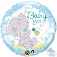 "Tiny Tatty Bear Baby Boy Foil Balloons (18"") Balloons Balloon Town - Party Boulevard Singapore Balloons Helium"