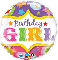 "Birthday Girl Happy Birthday Foil Balloons (18"")"