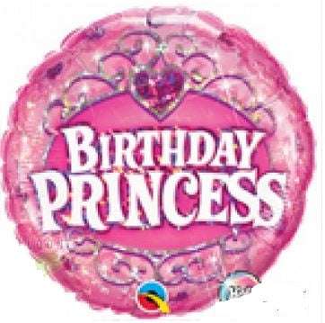 "Birthday Princess Happy Birthday Foil Balloons (18"") Balloons Balloon Town - Party Boulevard Singapore Balloons Helium"