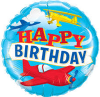 "Happy Birthday Airplane Foil Balloons (18"")"