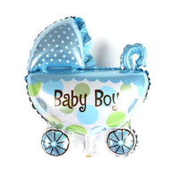 "Mini Baby Boy Shower Foil Balloons (14"") - Air Filled Balloons Balloon Town - Party Boulevard Singapore Balloons Helium"