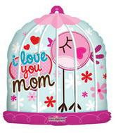 "I Love You Mom Birdhouse Giant Balloons (28"") Balloons Balloon Town - Party Boulevard Singapore Balloons Helium"