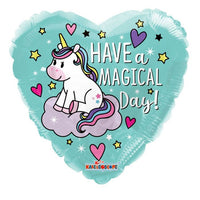 "Unicorn Have A Magical Birthday Heart Foil Balloon (18"")"