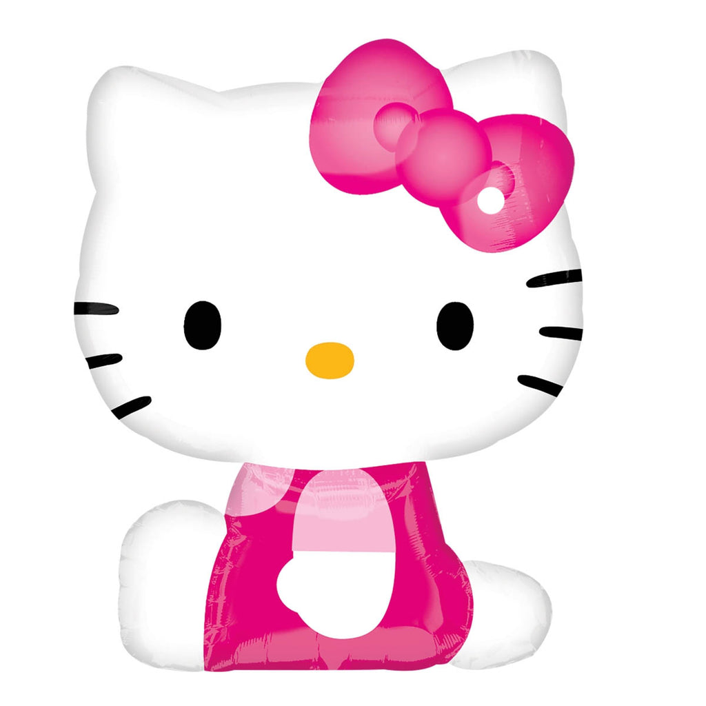 "Hello Kitty Pink Shape Foil Balloons (27"") Balloons Balloon Town - Party Boulevard Singapore Balloons Helium"