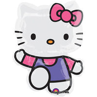"Hello Kitty Purple Suit Shape Foil Balloons (30"") Balloons Balloon Town - Party Boulevard Singapore Balloons Helium"