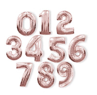 Rose Gold Helium Fill-able Numbers Giant Balloons