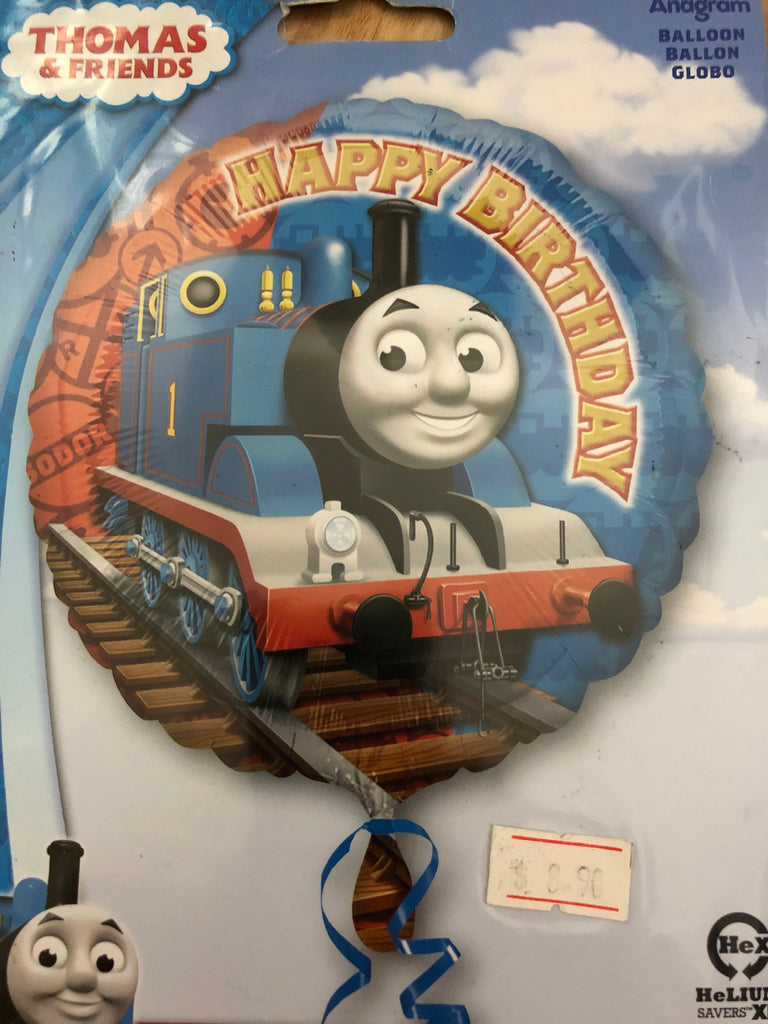 "Thomas and Friends Helium Happy Birthday Fill-able Foil Balloons (17"") - Save 40% Balloons Balloon Town - Party Boulevard Singapore Balloons Helium"