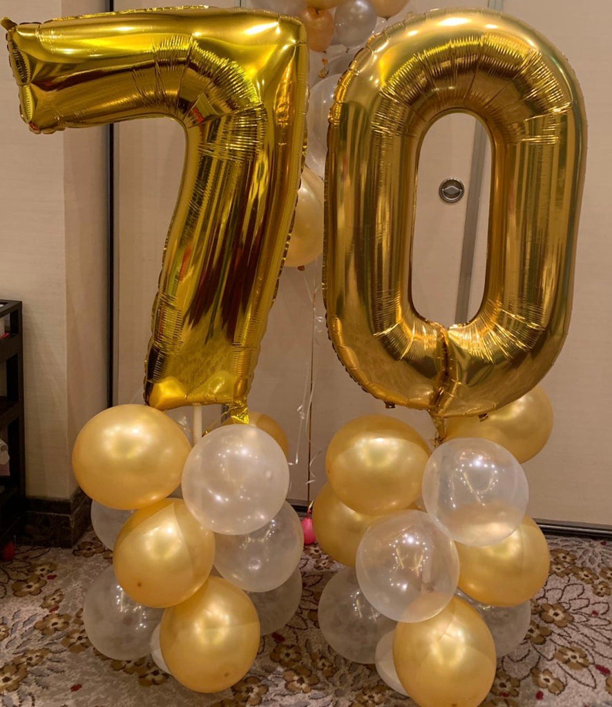 Number Standee Party Deco Balloon Town - Party Boulevard Singapore Balloons Helium