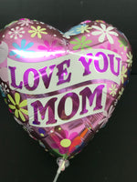 Love You Mom Heart Shape Balloons