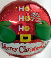 "Merry Christmas Ho Ho Ho Foil Balloon (15"")"