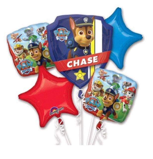 Paw Patrol Bouquet Balloons (5 pieces) Balloons Balloon Town - Party Boulevard Singapore Balloons Helium