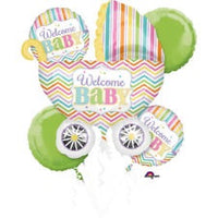 Welcome Baby - Baby Shower Bouquet Foil Balloons