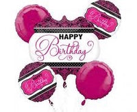Classy Pink Shades Birthday Bouquet Foil Balloons