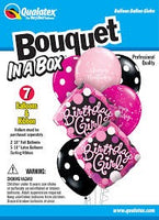 Birthday Girl Bouquet in a Box Balloons (7 pieces)
