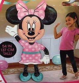 "Minnie Mouse Airwalker Jumbo Foil Mylar Birthday Balloon (54"") Balloons Balloon Town - Party Boulevard Singapore Balloons Helium"