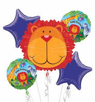 Jungle Animals Birthday Bouquet Foil Balloons Balloons Balloon Town - Party Boulevard Singapore Balloons Helium