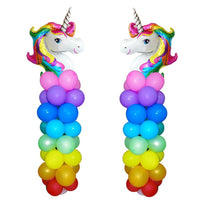 Unicorn Rainbow Balloons Party Standee
