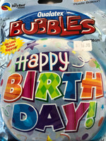 "Happy Birthday Bubble Foil Balloons (22"")"