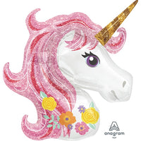 "Unicorn Shape Magical Sparkle Giant Foil Balloons (33"")"