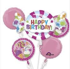 Sweets And Desserts Birthday Bouquet Foil Balloons Balloons Balloon Town - Party Boulevard Singapore Balloons Helium