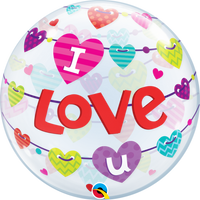 "I Love You Banner Bubble Balloons (22"")"