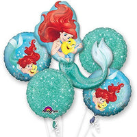 Mermaid Birthday Bouquet Balloons (5 pieces)