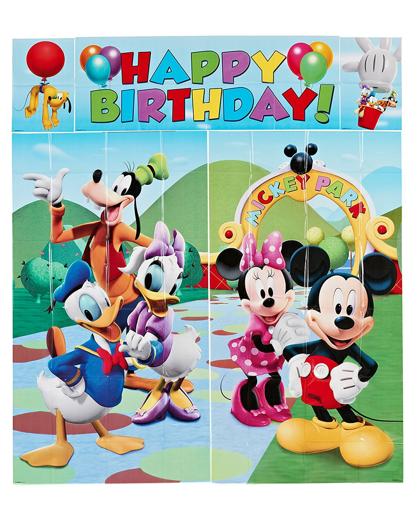 Multicolored Mickey Party Wall Decorating Kit (5 Piece) Party Deco Party Boulevard - Party Boulevard Singapore Balloons Helium