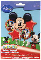 Mickey Mouse Bouquet Happy Birthday Balloons (5 pieces)
