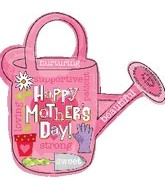 "Happy Mother's Day Watering Can Balloon Giant Balloons (28"") Balloons Balloon Town - Party Boulevard Singapore Balloons Helium"