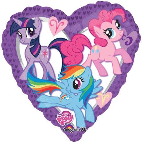 "My Little Pony Heart Foil Balloons (17"") Balloons Balloon Town - Party Boulevard Singapore Balloons Helium"